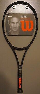 New Wilson Pro Staff 97 Autograph Roger Federer RF97 4 3/8 L3 Racket BLACK ()