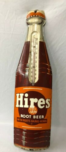 ORIGINAL HIRES ROOT BEER ADVERTISING THERMOMETER WORKING CONDITION NICE