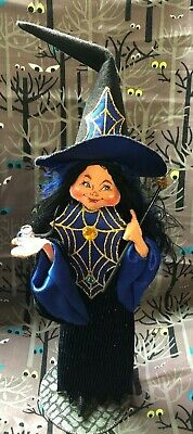 Rare Beautiful Halloween 2007 Annalee Casting a Spell Witch in Blue 201207 - Halloween 07 Cast