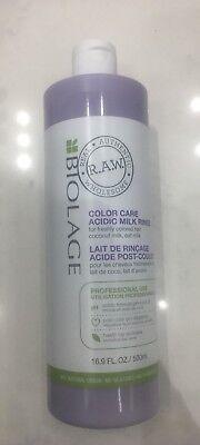 Care Rinse - Matrix Biolage Raw Color Care Acidic Milk Rinse 16.9oz