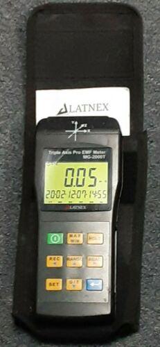 Latnex MG-2000T: Triple Axis Pro EMF Meter