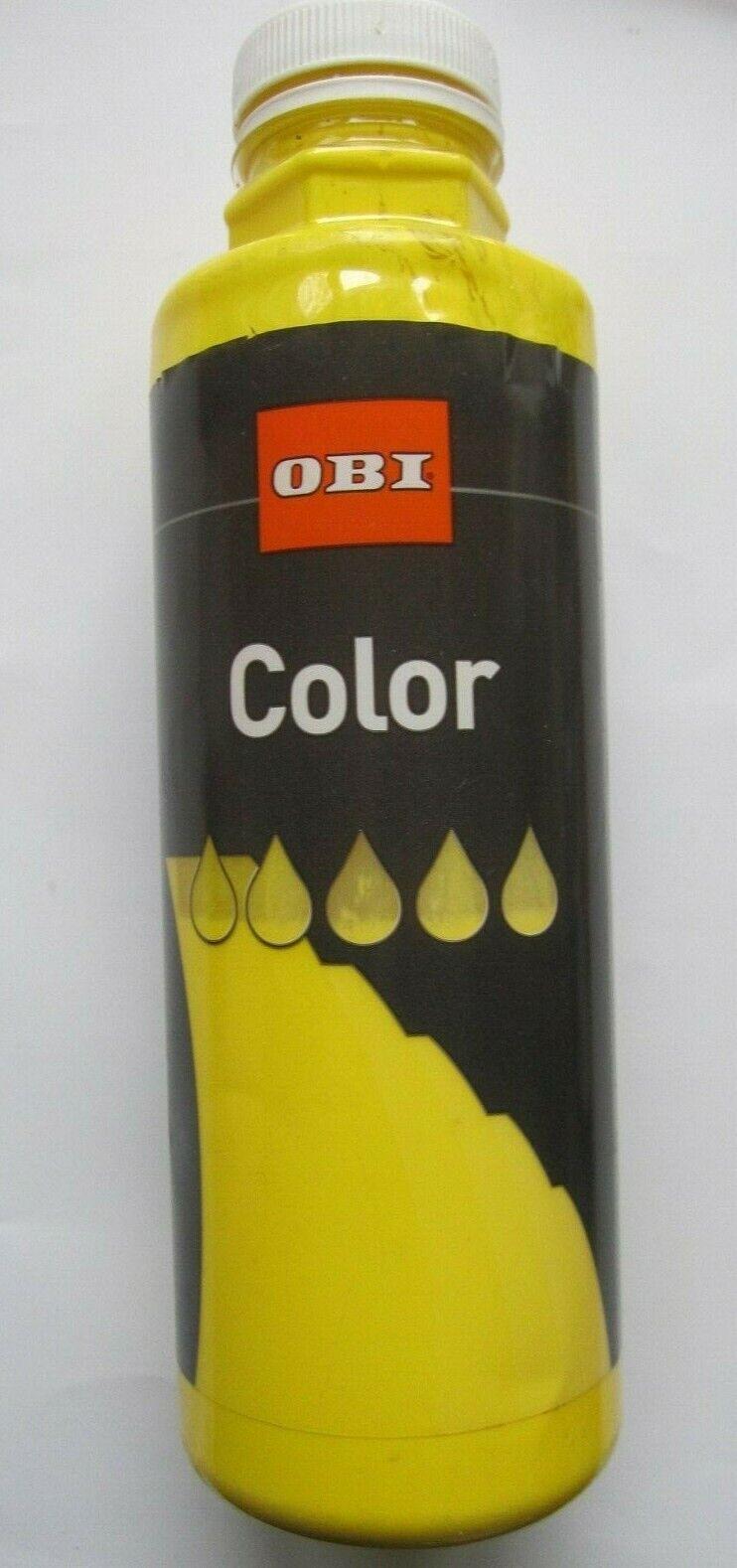 OBI Color gelb   ca. 250  ml für ca. 1,5 m² Vollton - & Abtönfarbe