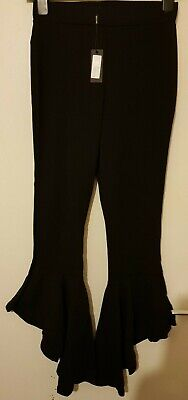 Nelly,Flare Trousers Pants, Color: Black, Size: UK-S, BNWT