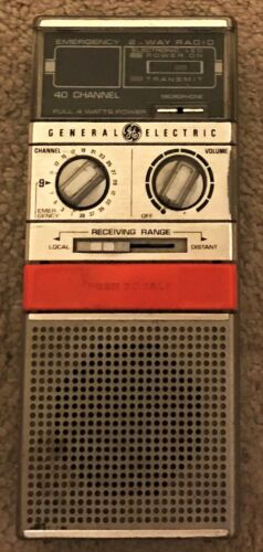 General Electric Model 3-5908A Citizen Band Transceiver 2 Way Radio 40 Channel