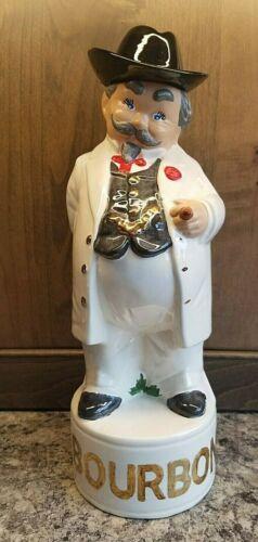 Vtg Liquor Decanter (empty) Bourbon/Whiskey Ceramic Southern Gentleman Figurine