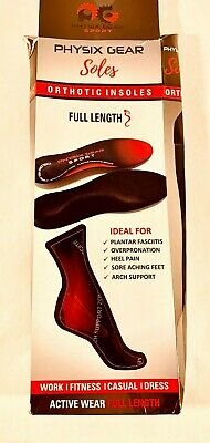 Physix Gear Sport Full Length Orthotic Inserts with Arch Support - Best Shock