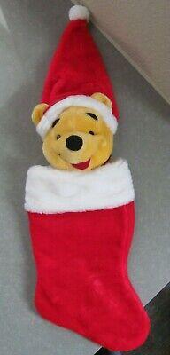 Plush Winnie the Pooh Christmas Stocking