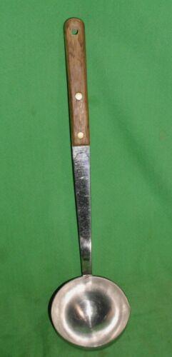 "Vintage, Nice! Mel-Jax Warranted Quality Ladle Stainless Steel, Wood Handle, 12"""
