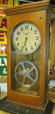 Vtg Large Simplex Master Timing Clock, School, Factory, Industrial, Commercial