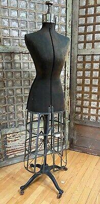 Antique Adjustable Dress Form Simplex Mannequin Patent 1912 Brooklyn Ny