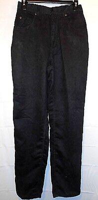 CABIN CREEK womens black brushed cotton texture str leg pants slacks size 8  for sale  Akron
