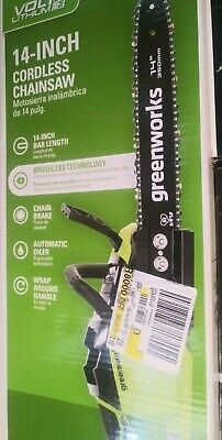 New! GreenWorks 2012802 40V 14 inch Cordless Chainsaw