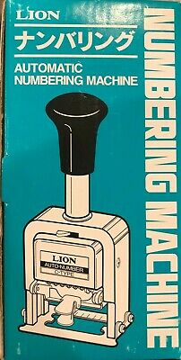 Lion Pro-line Heavy-duty Automatic Numbering Machine 6-wheel Roman Free Shipping