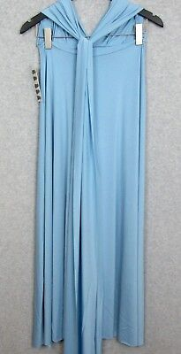 Magic Wrap Kleid (Wrap Magic Transformer Skirt Dress Womens Size Small Light Blue Convertible $250)