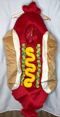 Hot Dog Costume Youth Fits All Halloween Dress up Theater Pre Owned - Halloween Costumes Retail Stores