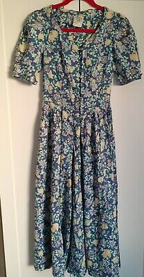 Vintage Laura Ashley Cotton Dress Size 6 - 8 ( 10