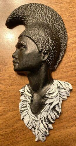 Vintage Beauties with Black Coral Hawaiian Figure wearing Lei Made in Hawaii C16