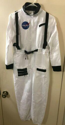SPIRIT NASA Space Astronaut Flag Costume Jumpsuit Child Size L 12-14 (28x23) EC