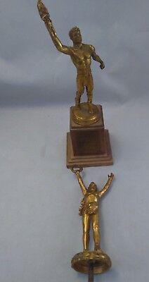 Lot of 2 ANTIQUE ATHLETIC TROPHY 1951 - Wholesale Trophies
