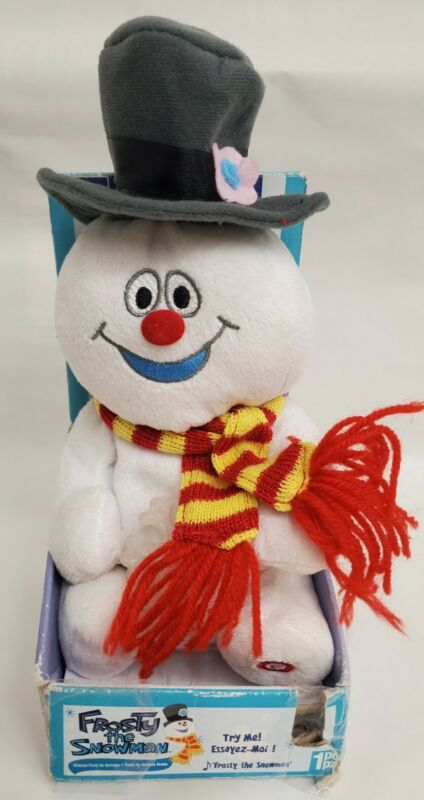 2007 Gemmy Frosty The Snowman Singing Plush Lighted Snowflake