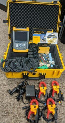 Fluke 434 Power Quality Analyzer Logger Energy Meter, Excellent, Extras