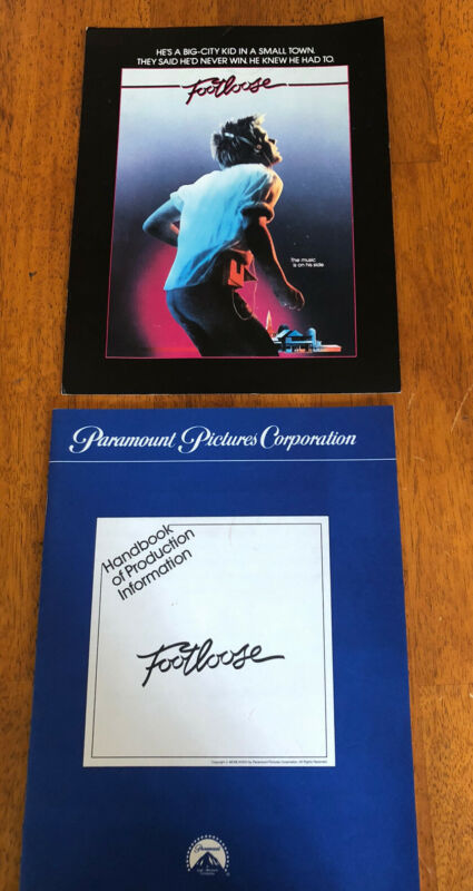 Footloose Vintage Rare Press Kit Kevin Bacon Movie Film Cast card 1984