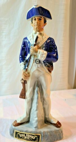 Ezra Brooks Decanter Revolutionary War Soldier 1975