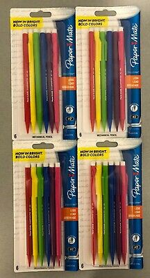 Lot Of 4 Brand New Sharpwriter Mechanical 2 Pencils 0.7 Mm Paper Mate 6 Colors