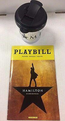 HAMILTON PLAYBILL & Souvenir Small Cup COMBO Lin Manuel Miranda NYC BROADWAY