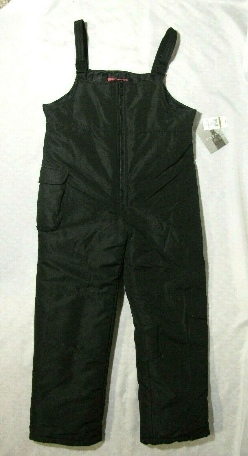 LONDON FOG Black L/14-16 NWT Front Zip Snowsuit Skisuit