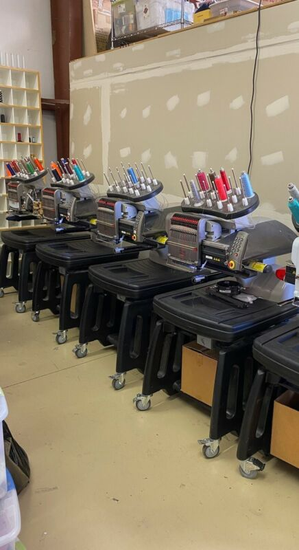4 Melco Amaya XTembroidery machine