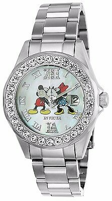 Invicta Disney® Women's Angel Limited Edition Quartz Crystal Accented Watch