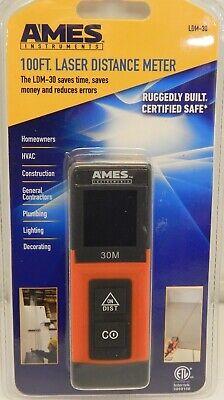 Brand New Ames 100ft Laser Distance Meter Ldm-30