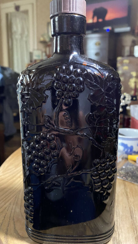 Vintage  Wine Bottle Brown Ball One Pint