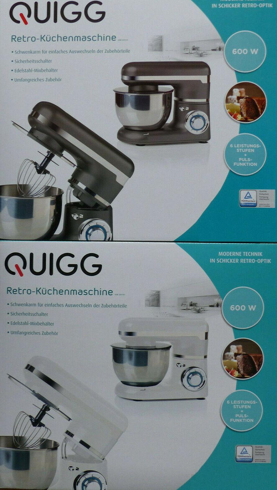 Retro Küchenmaschine mit Schwekarm 6 Leistungstufen +1 inkl. Zubehör / NEU!