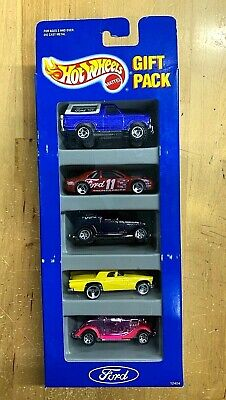 Hot Wheels 1993 Ford 5 Car Gift Pack RARE Casting Versions NIB