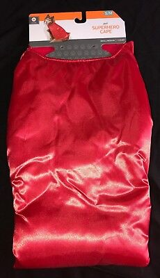 SUPER HERO MALE FEMALE PUPPY DOG size S/M RED CAPE HALLOWEEN COSTUME NEW NWT @@