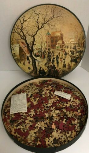 Winter Scene puzzle by Hendrick Avercamp 500 Pcs #C939 Springbok Round