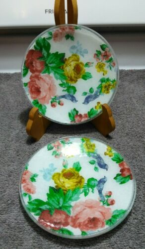 """GORHAM ROUND CANDY DISHES """" ROSE PATTERN"""" SET OF 2. NEW IN BOX."""