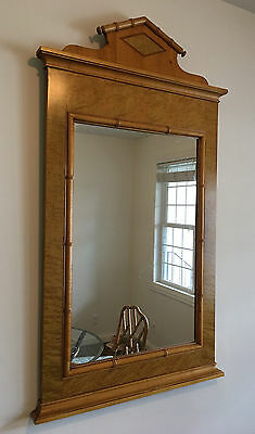 Baker Furniture Empire Style Birdseye Maple Wall Mirror