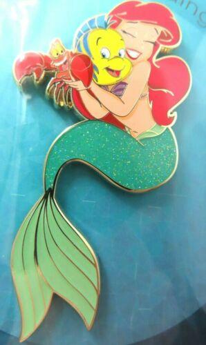 Disney Pin Artland Little Mermaid Ariel Sebastian Flounder Hug LE 300