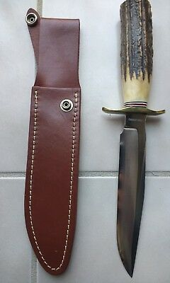 RARE Blackjack USA Fixed Blade Hunting Knife STAG #1-7 Model 0017S NEW IN BOX