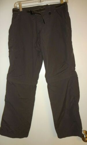 REI Convertible Zip Off Pants to Shorts Boys size 12 Self Belt Cargo Pocket Gray