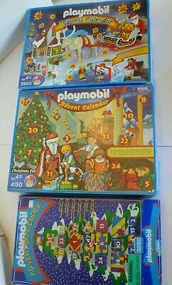 3 old Playmobil Advent calendars incomplete - great Christmas stuff