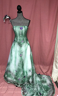 FOREST fairy corpse bride wedding dress COSTUME Halloween cosplay OOAK size - Forest Costume