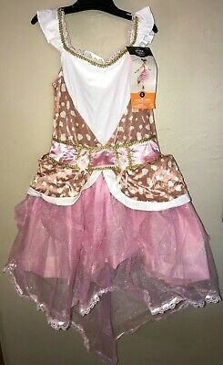 MAGICAL FAWN NEW NWT HALLOWEEN COSTUME girls size large dress headpiece GLOVES ](Fawn Costume Halloween)