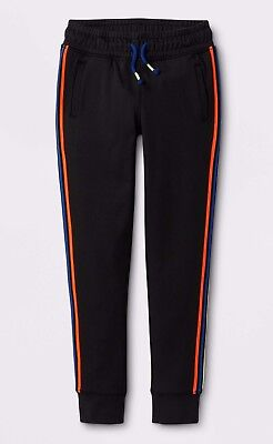 Girls' Activewear Track Pants with Stretchy Drawstring- Cat & Jack Black Cat Track Pant