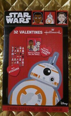 Star Wars Teacher (Star Wars 32 Valentines & Sticker Sheet + Teacher Card by Hallmark - Disney)