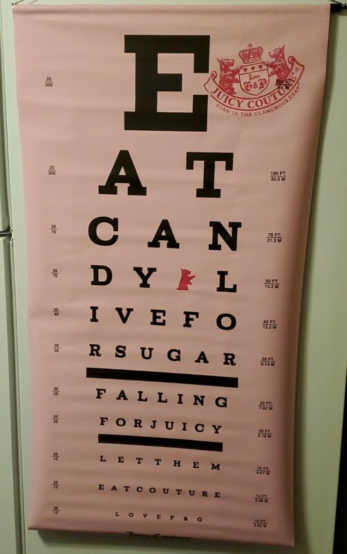 Juicy Couture Department Store Advertising Poster eye chart wall display 2