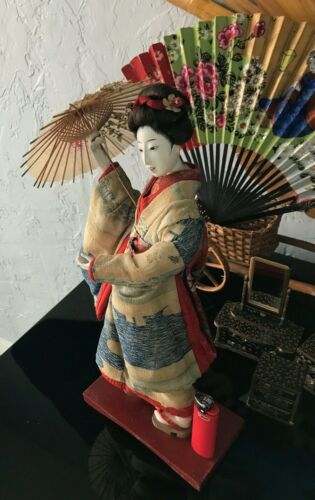 "LATE EDO/EARLY MEIJI 14""STUNNING GEISHA*GOFUN HI SHEEN*SILK KIMONO*MUST SEE"
